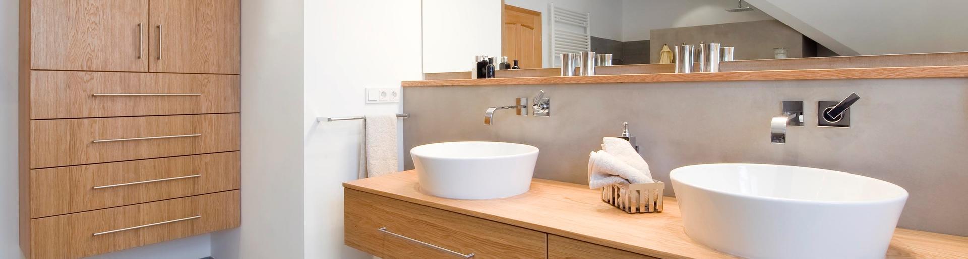 Holz im Badezimmer | Abele Haustechnik | Weilheim | Tutzing ...